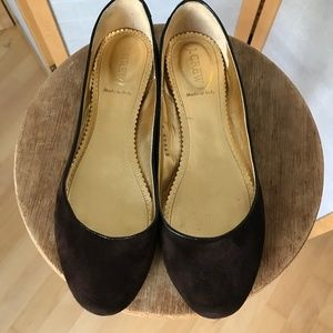 J. Crew skimmers size 9 brown suede super flats